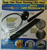 New Dryer Max Deluxe Vent Cleaning Lint Trap Removal Vacuum Duct Brush Kit