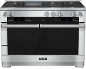 Miele Hr1956dfgdlp M Touch Series 48 Inch Pro Style Dual Fuel Range In Stainless