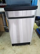 Ge 18 In 52 Decibel Portable Dishwasher Stainless Energy Star
