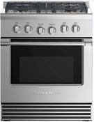 Fisher Paykel Rgv2304nn 30 Inch Gas Range With 4 Burners In Stainless Steel
