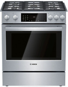 Bosch Hdip056u Benchmark Series 30 Inch Slide In Dual Fuel Range Stainless Steel