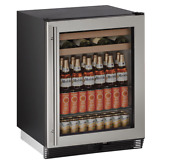 U Line U 1024bevs 00b 24 Undercounter Beverage Center Stainless W Glass Door