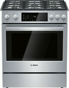 Bosch Hgi8056uc 800 Series 30 Inch All Gas Slide In Range In Stainless