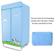 1000w Portable Installation Free Electric Foldable Clothes Dryer Double Layer