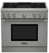 Thermador Prd364gdhu Pro Harmony 36 Inch Pro Style Dual Fuel Range Stainless