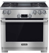 Miele Hr1136 1gdlp Directselect 36 Inch Pro Style Lp Range With Griddle