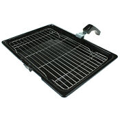 Direct Replacement Oven Grill Pan Rack Tray Handle For Bosch Ovens 380x275mm