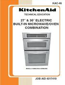 27 30 Electric Built In Microwave Oven Combination Service Manual