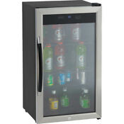 Avanti 3 0cf Cabinet With Stainless Steel Glass Door Beverage Cooler Black Bca