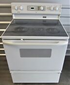 Kenmore Electric Flat Top Stove Used Works Great 30 Standard Size