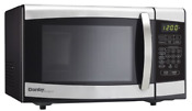 Danby Designer 0 7 Cu Ft Countertop Microwave Black Stainless Steel