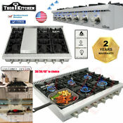 Thor 30 36 48 Stainless Gas Rangetop Cooktop Griddle 4 6 7 Burners Pro Ungrade