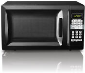 Hamilton Beach Microwave Oven 0 7 Cubic Ft Black 10 Power Levels 700 Watts New