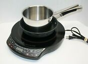 Nuwave Precision Induction Cooktop Plate Stove Model 30121 Bundled With 2 Pans