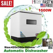 1500w Countertop Automatic Dishwasher Portable Dish Washer 12l Stainless Steel