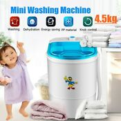 Portable Mini Washing Machine Semi Automatic 10lbs Laundry Washer Spin Dryer
