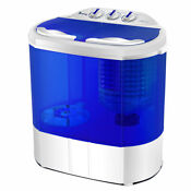 Zokop 10lbs Portable Mini Twin Tub Compact Washing Machine Washer Spin Dryer