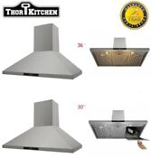 Thor 30 36 Wall Mount Range Hood Vent Fan Stainless Steel Touch Control 3 Speed