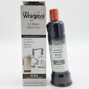 New Genuine Authentic Whirlpool F2wc9i1 Ice2 Ice Maker Replacement Water Filter