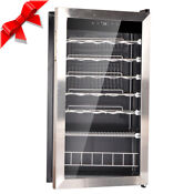 Smad 28 Bottles Glass Door Wine Fridge Compact Beverage Cooler Bar Refrigerator