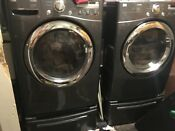 Lg Tromm Washer And Gas Dryer Combination Set With Pedestals Stack Able
