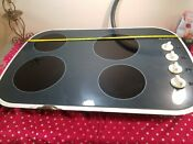 29 Inch Wide 4 Burner Electric Cooktop Ceramic Glass Finish Electric Stove