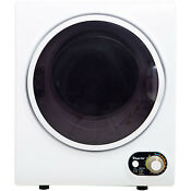 Magic Chef 1 5 Cu Ft Compact Dryer White Stainless Steel Tub Lint Filter New