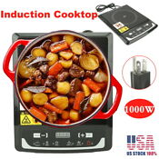 Electric Induction Cooker Portable Cooktop Burner 1000w Temperature Control Us