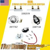 For Whirlpool Kenmore Dryer Thermostat Fuse Kit 3977767 3392519 3387134 3399848