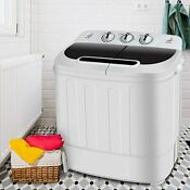 Super Deal Portable Compact Mini Twin Tub Washer Dryer Machine Wash Spin Cycle