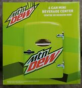 Mountain Dew 6 Can Mini Fridge Collectors Item Never Opened