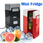 Portable Mini Usb Refrigerators Beer Drink Cans Cooler Warmer Refrigeration