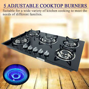 30 Inch 5 Burners Built In Stove Top Gas Cooktop Kitchen Ng Lpg Gas Cooking