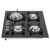 24 Inch Gas Cooktop In Stainless Steel New 4 Burners Stove Built In Cooker Hob
