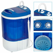 9lbs Portable Compact Washing Machine W Washer Spinner Gravity Drain Pump Hose