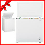 Smad 3 4 7 Cu Ft Compact Chest Freezer Water Drain Garage Kitchen Energy Saving