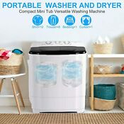 Compact Portable Washer Dryer With Mini Washing Machine And Spin Dryer White