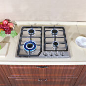 23 4 Burners Built In Stove Top Gas Cooktop Kitchen With Valves Gas Cooking