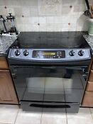 Ge Profile Ps9050d P22b 30 Stainless Slide In Electric Range Needs Minor Repair