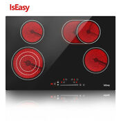 Iseasy 30 Electric Radiant Ceramic Cooktop 4 Burners Drop In Touch Child Lock