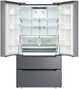 Counter 22 5 Cu Ft Depth Fridge French Door Stainless Steel Refrigerator Freezer