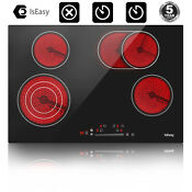 Iseasy 30 Electric Cooktop Ceramic Stove 4 Burner Touch Control Built In