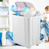 2 In 1 Full Automatic Washing Machine 26lb Compact Portable Laundry Washer Dryer