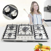 33 8 Gas Cooktop 5 Burners Gas Stove Built In Natural Gas Propane Cooktop