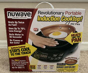 New Open Box Nuwave Induction Cooktop Pic Flex 9 Ceramic Nonstick Fry Pan 30532
