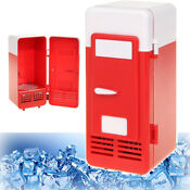 Mini Usb Powered Fridge Cooler For Beverage Drink Cans In Cubicle Home Office