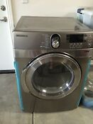 Front Load Silver Samsung 7 5 Cu Ft Electric Dryer Stainless Platinum