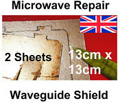 2x Microwave Cover Sheet Mica Asbestos Extra Heat Waveguide 5 130mm Square Uk