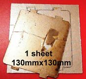 Microwave Waveguide Cover Large Sheet Mica Asbestos Shield Heat 5 130mm Uk