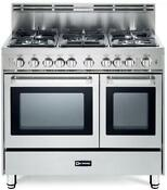 Verona Vefsgg365ndss 36 Double Oven Gas Pro Range Stainless Steel